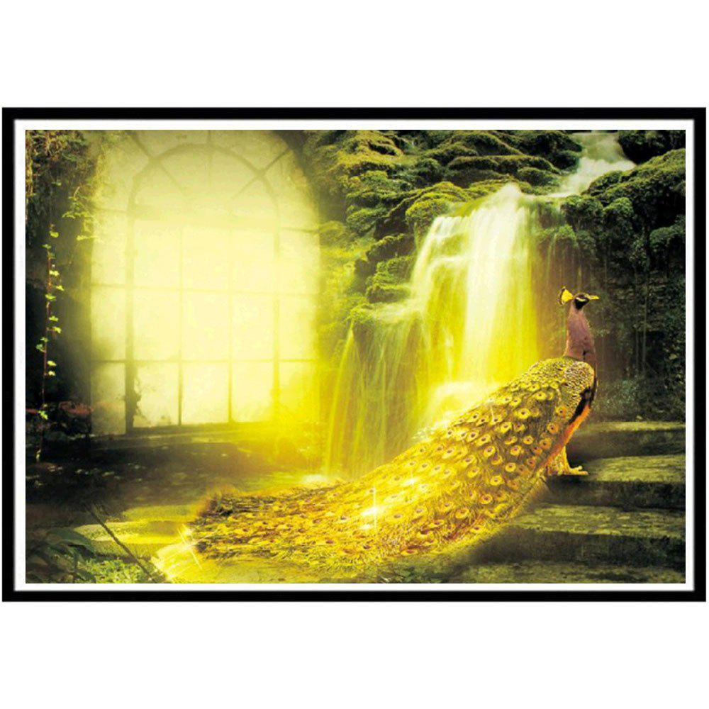 Фото NAIYUE J8932 Golden Peacock Animal Print Draw 5D Diamond Painting Diamond Embroidery
