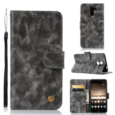 Luxurious Retro Fashion Flip Leather Case PU Wallet Cover Cases For Huawei Y7 2017 Smart Cover 5.5 Phone Bag with Stand - GRAY