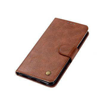 Luxurious Retro Fashion Flip Leather Case PU Wallet Cover Cases For Huawei Y7 2017 Smart Cover 5.5 Phone Bag with Stand - BROWN
