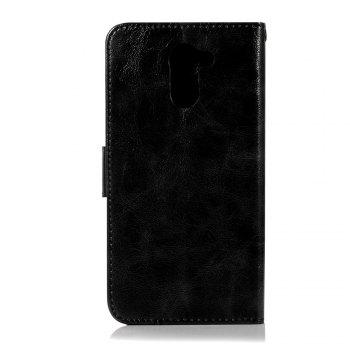 Luxurious Retro Fashion Flip Leather Case PU Wallet Cover Cases For Huawei Y7 2017 Smart Cover 5.5 Phone Bag with Stand - BLACK
