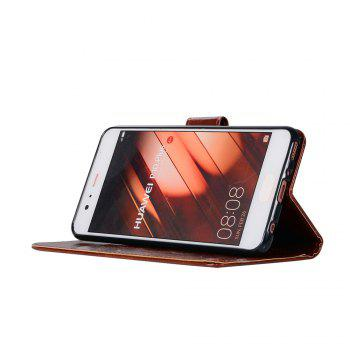 Flip Leather Case PU Wallet Case For Huawei P10 Plus Smart Cover Extravagant Retro Fashion Phone Bag with Stand - BROWN