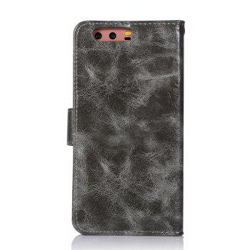 Flip Leather Case PU Wallet Case For Huawei P10 Plus Smart Cover Extravagant Retro Fashion Phone Bag with Stand - GRAY