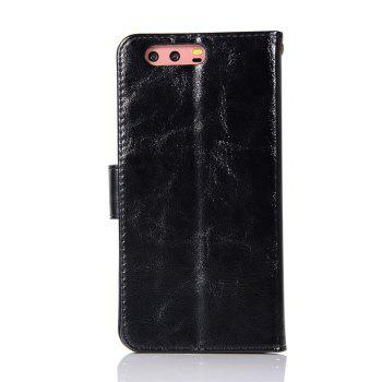 Flip Leather Case PU Wallet Case For Huawei P10 Plus Smart Cover Extravagant Retro Fashion Phone Bag with Stand - BLACK