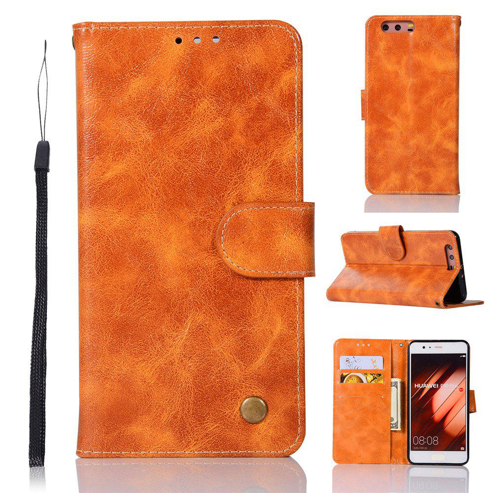 Flip Leather Case PU Wallet Case For Huawei P10 Plus Smart Cover Extravagant Retro Fashion Phone Bag with Stand - CITRUS