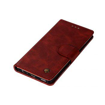 Flip Leather Case PU Wallet Case For Huawei P9 Smart Cover Extravagant Retro Fashion Phone Bag with Stand - WINE RED