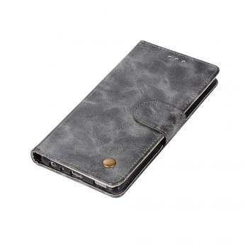 Flip Leather Case PU Wallet Case For Huawei P9 Smart Cover Extravagant Retro Fashion Phone Bag with Stand - GRAY