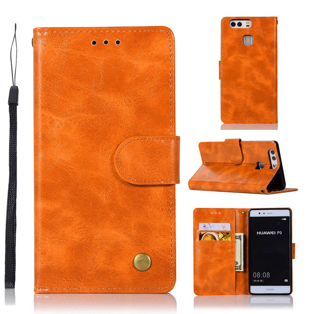 Flip Leather Case PU Wallet Case For Huawei P9 Smart Cover Extravagant Retro Fashion Phone Bag with Stand - CITRUS