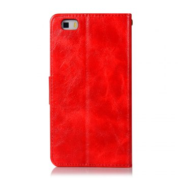 Flip Leather Case PU Wallet Case For Huawei P8 Lite Smart Cover Extravagant Retro Fashion Phone Bag with Stand - RED