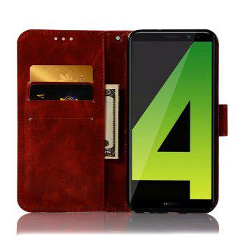 Flip Leather Case PU Wallet Case For Huawei Nova 2I / Huawei Mate 10 Lite Smart Cover Retro Fashion Phone Bag with Stand - WINE RED