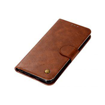Flip Leather Case PU Wallet Case For Huawei Nova 2I / Huawei Mate 10 Lite Smart Cover Retro Fashion Phone Bag with Stand - BROWN