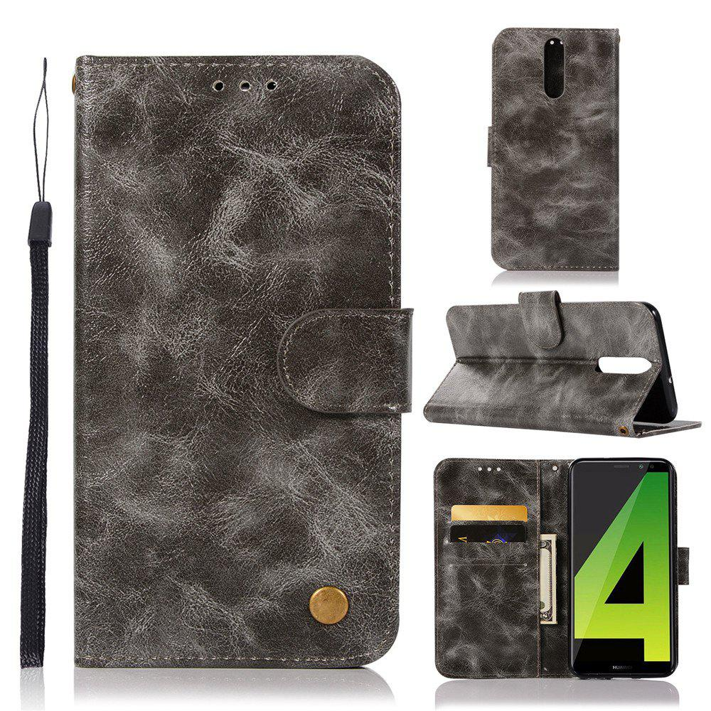 Flip Leather Case PU Wallet Case For Huawei Nova 2I / Huawei Mate 10 Lite Smart Cover Retro Fashion Phone Bag with Stand - GRAY