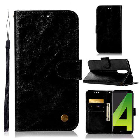 Flip Leather Case PU Wallet Case For Huawei Maimang 6 / Huawei Honor 9I Smart Cover Vintage Fashion Phone Bag with Stand - BLACK