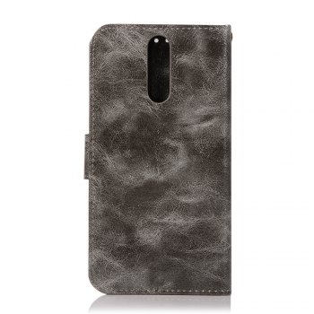 Flip Leather Case PU Wallet Case For Huawei Maimang 6 / Huawei Honor 9I Smart Cover Retro Fashion Phone Bag with Stand - GRAY
