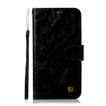 Flip Leather Case PU Wallet Case For Huawei Maimang 6 / Huawei Honor 9I Smart Cover Retro Fashion Phone Bag with Stand - BLACK