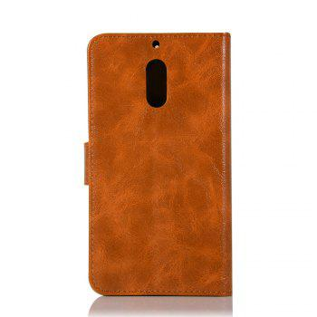 Flip Leather Case PU Wallet Case For Nokia 6 Smart Cover Extravagant Retro Fashion Phone Bag with Stand - CITRUS