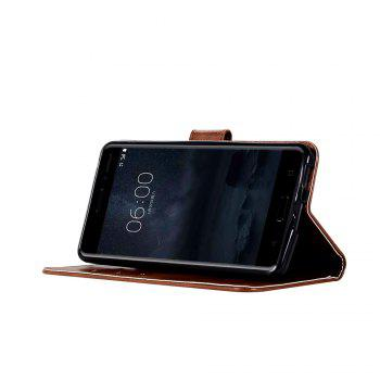 Flip Leather Case PU Wallet Case For Nokia 6 Smart Cover Extravagant Retro Fashion Phone Bag with Stand - BROWN