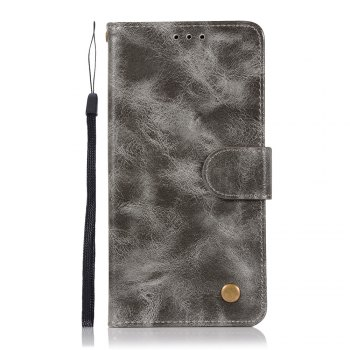 Flip Leather Case PU Wallet Case For Nokia 8 Smart Cover Extravagant Retro Fashion Phone Bag with Stand - GRAY