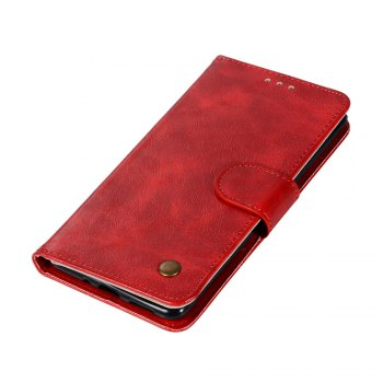 Flip Leather Case PU Wallet Case For Nokia 8 Smart Cover Extravagant Retro Fashion Phone Bag with Stand - RED