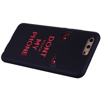 For Huawei P10 Red Eye TPU Mobile Phone Protection Shell - BLACK