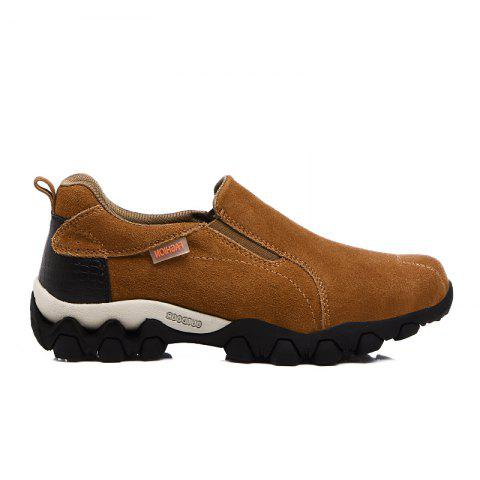 New Men'S Leisure Low-Top Mountaineering Shoes - LIGHT BROWN 39