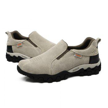 New Men'S Leisure Low-Top Mountaineering Shoes - LIGHT GRAY 42