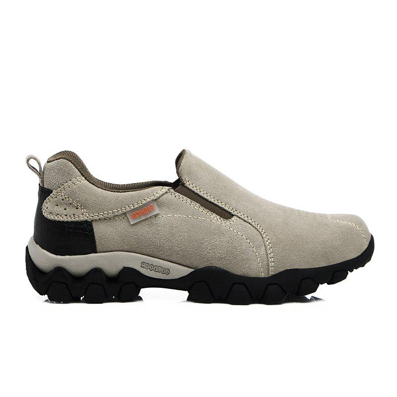 New Men'S Leisure Low-Top Mountaineering Shoes - LIGHT GRAY 43