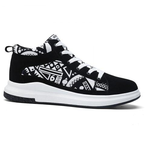 The New Couple Lovers Canvas Shoes - BLACK WHITE 44