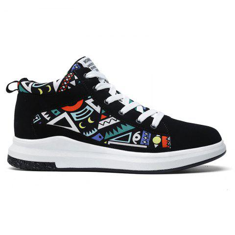 The New Couple Lovers Canvas Shoes - BLACK/GREEN 45