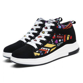 The New Couple Lovers Canvas Shoes - BLACK/ORANGE 45