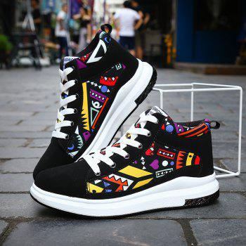 The New Couple Lovers Canvas Shoes - BLACK/ORANGE 39