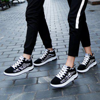 The New Couple Lovers Canvas Shoes - BLACK WHITE 43