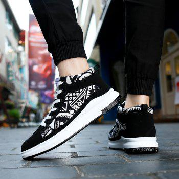 The New Couple Lovers Canvas Shoes - BLACK WHITE 41