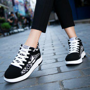 The New Couple Lovers Canvas Shoes - BLACK WHITE 40