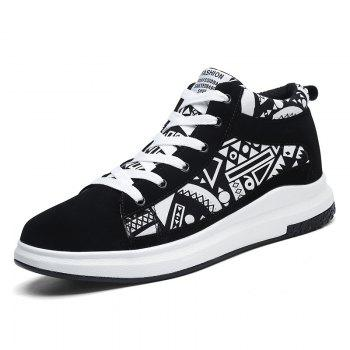 The New Couple Lovers Canvas Shoes - BLACK WHITE 37