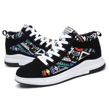 The New Couple Lovers Canvas Shoes - BLACK/GREEN 43