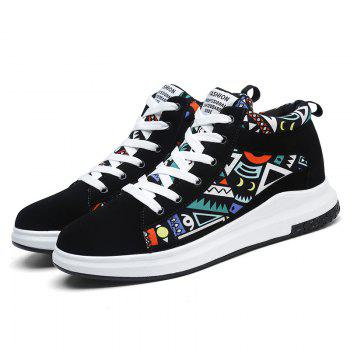 The New Couple Lovers Canvas Shoes - BLACK/GREEN 38