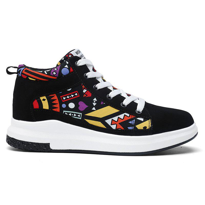 The New Couple Lovers Canvas Shoes - BLACK/ORANGE 43