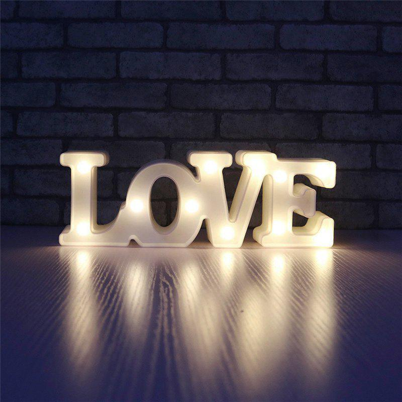YEDUO Romantic Small White LOVE Marquee Sign Night Lights For Home Wedding Decoration Valentine Gift megashopping green bowknot white dot favor wedding valentine gift boxes sold individually