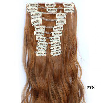 12 pcs/Set New Fashion Women Hair Accessories Long Wavy Extension Synthetic Curls Hair Wigs - LIGHT BROWN