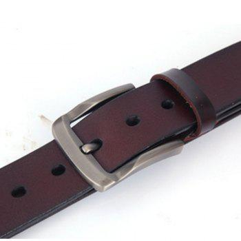 Men Business Casual Leather Belt Male Stitching Leather Belt - BROWN LEATHER BAND