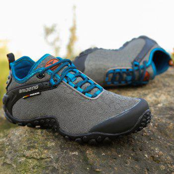 Men Casual Trend for Fashion Outdoor Hiking Flat Lace Up Breathable Flat Shoes - GRAY 41