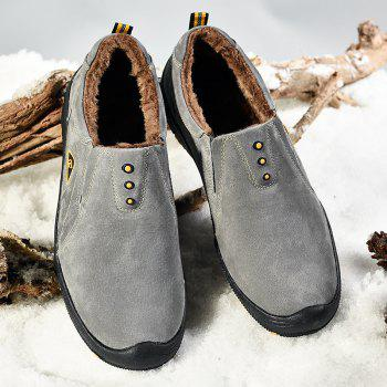 Men Casual Trend for Fashion Outdoor Hiking Flat Loafers Suede Breathable Flat Shoes - GRAY 39