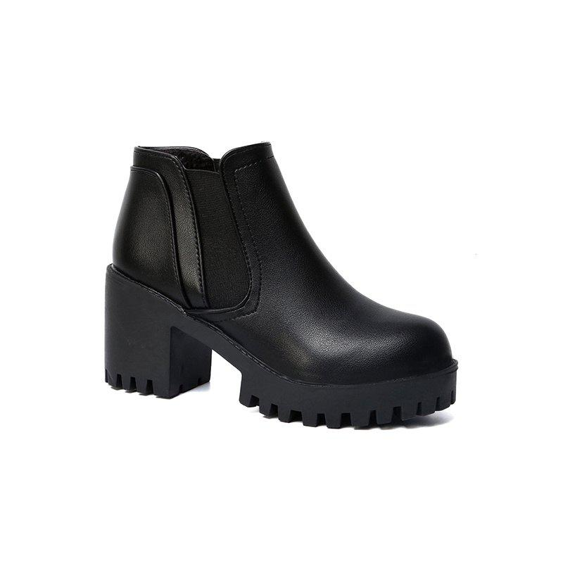Martin High Round Head Ankle Boots