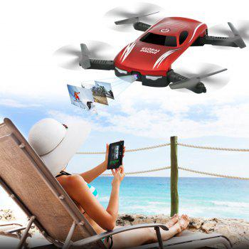 X185 Set High RC Plane WIFI Folding HD Aerial Mini Drone Air Car Children Toy Gift - RED