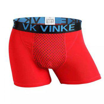 Penis Enlargement U Convex Boxer Trunk Magnetic Therapy and Health Protection Underwear - RED RED