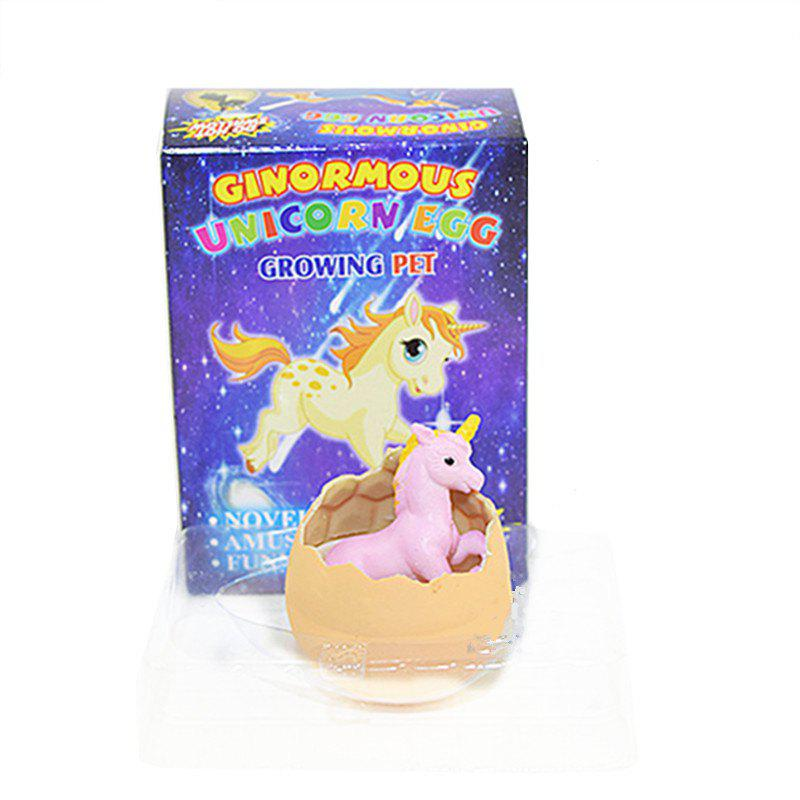 Growing unicorn mermaid Water Growing Hatching Colorful Egg - ORANGE