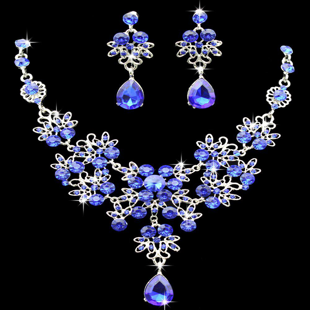 |The bride necklace  The bride of jewelry  Bridal necklace earrings suit  Wedding jewelry  Vintage Wedding Jewelry - ROYAL