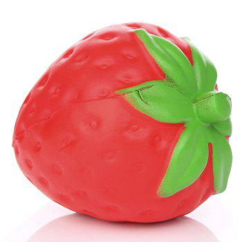 Squeeze Stretch Squishy Strawberry Fruit Scented Slow Rising Gift Toy for Kids - RED