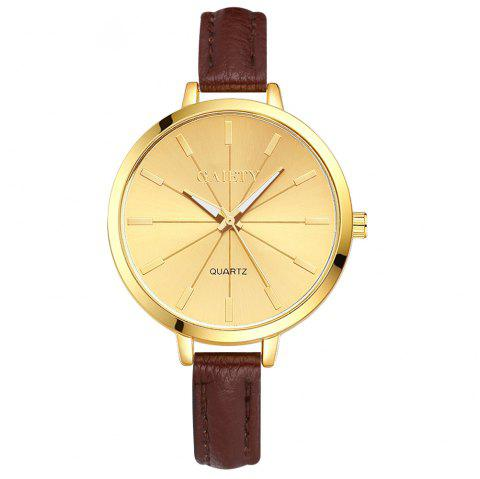 GAIETY G321 Women Fashion Leather Watch - BROWN