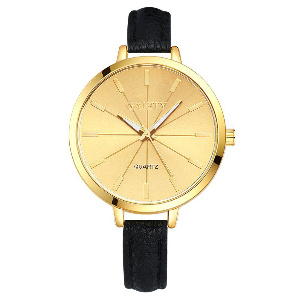 GAIETY G321 Women Fashion Leather Watch - BLACK